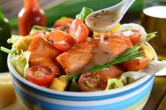 Salmon Salad Fotografía de archivo libre de regalías