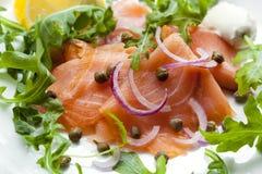 Salmon Salad ahumado Imagen de archivo