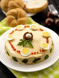 Fish salad with eggs Stock Photography