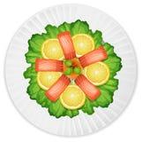 Salmon Salad fresco ilustração stock