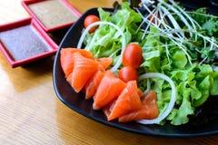 Salmon salad japanese style Stock Image