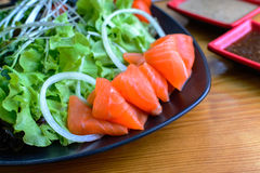 Salmon salad japanese style Stock Photos