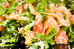 Salmon salad with ruccola Royalty Free Stock Image