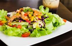 Salmon salad. Smoked salmon salad for healthy eating Stock Photo