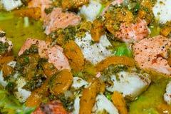 Salmon Salade Royalty Free Stock Image