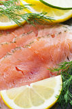Salmon. Salt and suger cured/marinated salmon. New version royalty free stock photos
