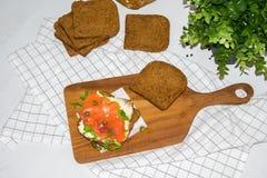 Salmon Sandwich fotografía de archivo