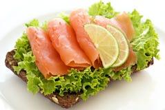 Salmon Sandwich Stock Photo