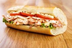 Salmon Sandwich Stockbild