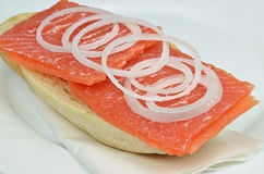 Salmon Sandwich Foto de Stock
