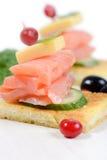 Salmon Sandwich Stockfotos