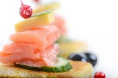 Salmon Sandwich Lizenzfreie Stockfotos