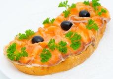 Salmon Sandwich Imágenes de archivo libres de regalías