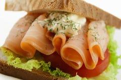 Salmon sandwich Stock Photos
