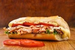 Salmon sandwich Stock Photography