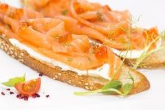 Salmon sandwich stock image
