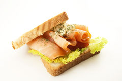 Salmon sandwich Royalty Free Stock Photography