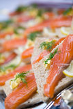 Salmon sandwiches Stock Images