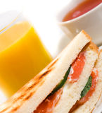 Salmon  sandwiches Royalty Free Stock Photo