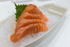 Salmon Sashimi över is Royaltyfria Foton