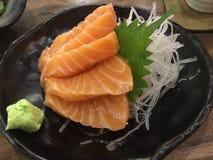 Salmon Sashimi Imagenes de archivo