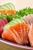 Salmon Sashimi. Close up Sashimi fresh salmon stock image