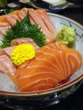 Salmon Sashimi Stock Foto's