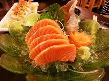 Salmon Sashimi stockfotos