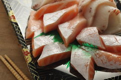 Salmon Sashimi Fotografia de Stock