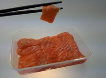 Salmon Sashimi Fotografie Stock Libere da Diritti
