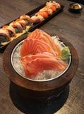 Salmon Sashimi Fotografia Stock