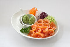 Salmon Sashimi Image stock