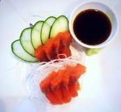 Salmon Sashimi Fotografia Stock Libera da Diritti
