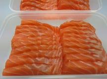 Salmon Sashimi Fotografie Stock