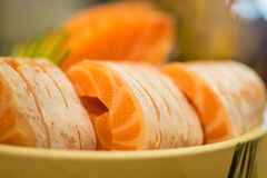 Salmon Sashimi Imagem de Stock