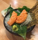 Salmon Sashimi Imagen de archivo libre de regalías