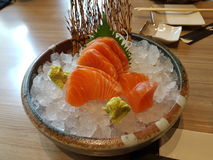 Salmon Sashimi Stockfotos