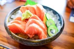 Salmon Sashimi Photographie stock libre de droits