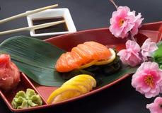 Salmon sashimi Stock Photography