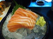 Salmon sashimi. Japanes food stock images