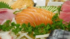 Salmon Sashimi. Is Japanese food so delicious and fresh stock image