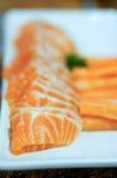 Salmon sashimi. Japanese food eat with sushi Royalty Free Stock Photography