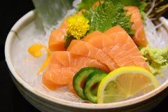 Salmon sashimi , japanese food Stock Photo