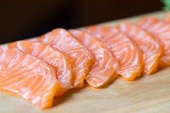 Salmon sashimi, Japanese food Royalty Free Stock Images