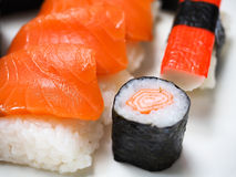 Salmon, sashimi Stock Photos