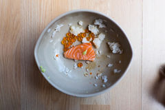Salmon sashimi and salmon roe Stock Image