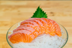 Salmon sashimi set Royalty Free Stock Photos