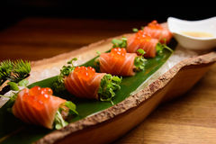 Salmon sashimi special Stock Photo