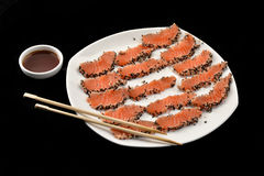 Salmon sashimi. Stock Photography