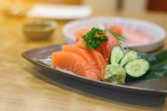 Salmon sashimi with Wasabi Royalty Free Stock Photos